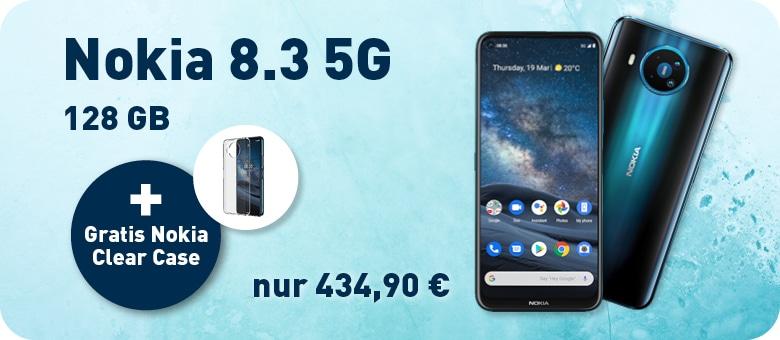 Nokia 8.3 + clear case